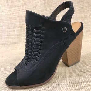 not rated black bootie ankle boots suede size 8.5